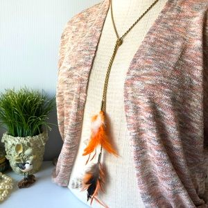 Feather tassel 🌸Necklace Boho Chic Jewelry